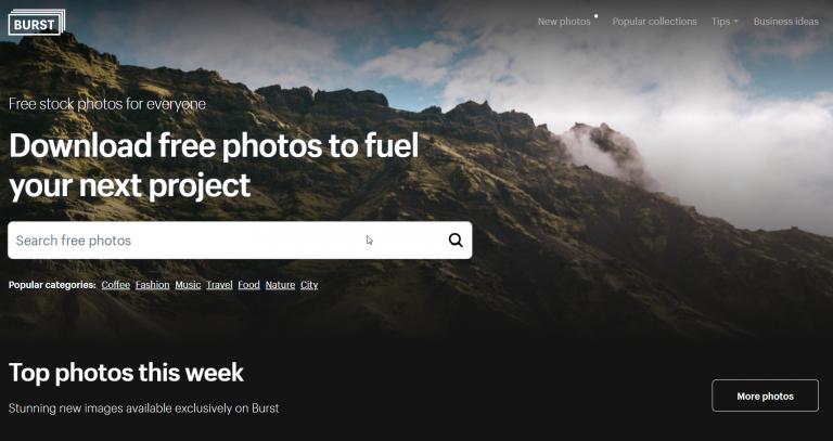 Burst free images
